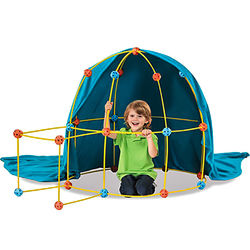 """Палатка-конструктор """"Дискавери"""" (Discovery Kids 69-Piece Flexible Construction Fort With Custom Connectors, Easy To Assemble For Kids Ages 5 And Up)"""