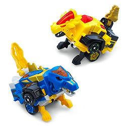 Дино-Трансформер - Круз и Спиннер (VTech Switch & Go Dinos - Bipedal Turbo Dinos 2-pack with Cruz and Spinner)