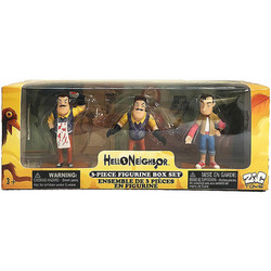 Набор из 3-х фигурок Привет сосед (Hello Neighbor 3-piece Figurine Box Set Series One - Complete Playset of 3 Toy Figures)