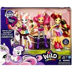 Набор из 3 кукол - Скуталу, Эппл Блум и Свита Бель из серии: Сила Радуги мой маленький пони (My Little Pony Equestria Girls Exclusive Wild Rainbow Doll 3-Pack The Cutie Mark Crusaders [Sweetie Belle, Scootaloo & Apple Bloom])