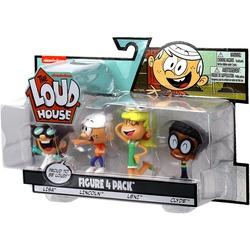 Набор фигурок из серии «Мой шумный дом». 4 шт. в упаковке - Линкольн, Клайда, Лиза, Лени. (The Loud House Figure 4 Pack - Lincoln, Clyde, Lisa, Leni - Action Figure)