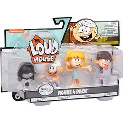 Набор фигурок из серии «Мой шумный дом». 4 шт. в упаковке - Линкольн, Лори, Люси, Луна. (The Loud House Figure 4 Pack - Lincoln, Lori, Lucy, Luna - Action Figure)