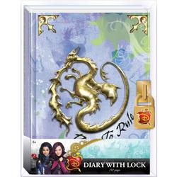 Дневник «Наследники Диснея» с замком и ключом, для фанатов Mal и Disney (Disney Descendants Mals Diary Journal Book for Girls)