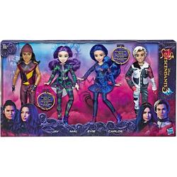 Коллекция «Остров Потерянных. Наследники Дисней-3» - 4 куклы: Иви, Мэл, Карлос и Джей. (Disney Descendants 3 Isle Of The Lost Collection 4 Pack Dolls)