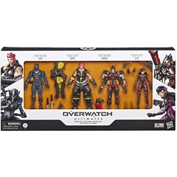 Гэндзи, Зара, Фара и Ди Ва в наборе Overwatch Ultimates, серия Carbon. (Overwatch Ultimates Series Collectible Carbon Series Action Figure 4pack with Genji, Zarya, Pharah, and D. Va)