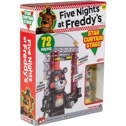 Звёздный занавес сцены - конструктор пять ночей с Фредди 72 дет. (McFarlane Toys Five Nights at Freddy's Star Curtain Stage Small Construction Set)