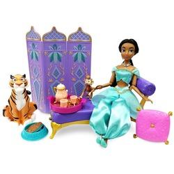Набор: кукла Жасмин во дворце с фигуркой Раджи - «Аладдин» - Дисней (Disney Jasmine Classic Doll Palace Lounge Play Set – Aladdin)