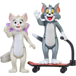 Фигурки Тутс и Тома на самокате - «Том и Джерри» - Дисней (Tom & Jerry Figure 2-Packs: Skateboarding Tom & Toots)