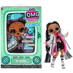 Кукла ЛОЛ Сюрприз О.М.G. Dance Dance Dance БиГёл (B-Girl) светящаяся с 15 сюрпризами. (LOL Surprise OMG Dance Dance Dance B-Gurl Fashion Doll)