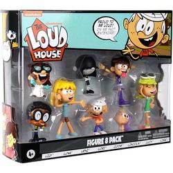 "Набор Фигурок 8 шт. ""Мой шумный дом"" - Линкольн, Клайд, Лори, Лили, Лени, Люси, Лиза, Луна (The Loud House Figure 8 Pack - Lincoln, Clyde, Lori, Lily, Leni, Lucy, Lisa, Luna)"