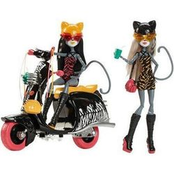 Мяулоди и Пурсефона на скутере (Purrsephone and Meowlody with scooter)