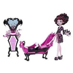 Дракулаура и ванная комната (Draculaura Doll and Powder Room Playset)